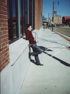 Alex in Memphis, Tennessee...and cool as ever (January 2002)