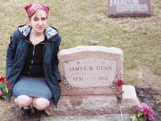 Courtney at James Dean's grave in Spring 2004