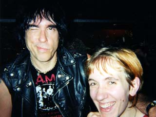 Courtney with some Ramone