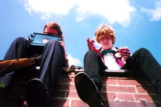 RØB and Mort BURKE on the roof, DATin' and danglin'