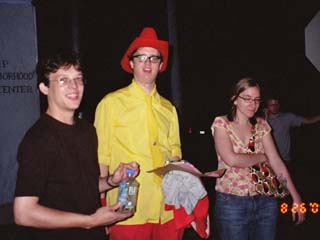 Phil REUM, RØB, and Courtney at the Lemp Neighborhood Arts Center, 26 August 2005