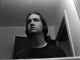 Self-Portrait a day before dyeing his hair bleach blonde--July 3rd, 2001
