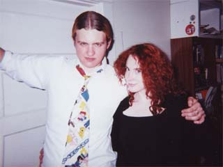 RØB with Hannah WOLFE at a huge party thrown on November 9th, 2001