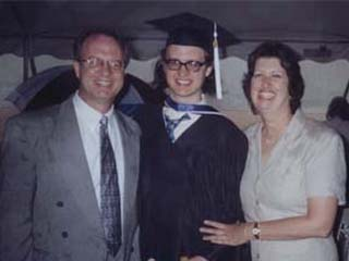 RØB graduating from college on May 10th, 2003 (flanked by his parents)