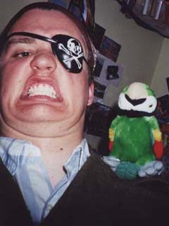 RØB pirating around and having more than one chin