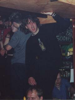 A closer-up shot of RØB in Belgium on New Year's Eve 2000-2001 (see Andrew in the background humping some girl?)