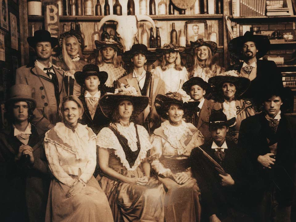 Try to find RØB in this huge Old West-style family portrait!
