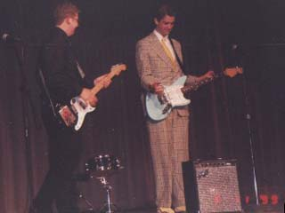 Playing 'All I Have To Do Is Dream' with Jamie Collins III at the Thespian Banquet, Lafayette High School, May 1999