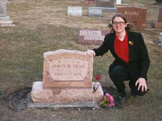 At James Dean's grave in Spring 2004