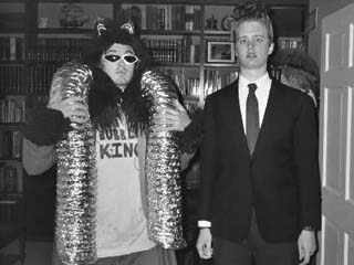 Ron WARNER as the Bubble King and RØB as 'Eraserhead,' Halloween 2003