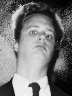 A crappy edited-in background for RØB in his Eraserhead getup (Halloween 2003)
